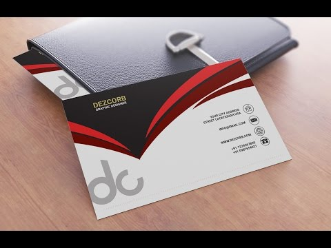 Business card design in photoshop cs6 | Back | Red | Gray | White