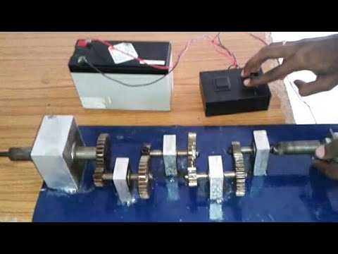 Tapping Machine using Gear Trains | Mechanical Mini Project |