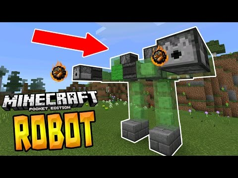 WALKING ROBOT in MCPE!!! - 1.1+ Redstone Creation - Minecraft PE (Pocket Edition)