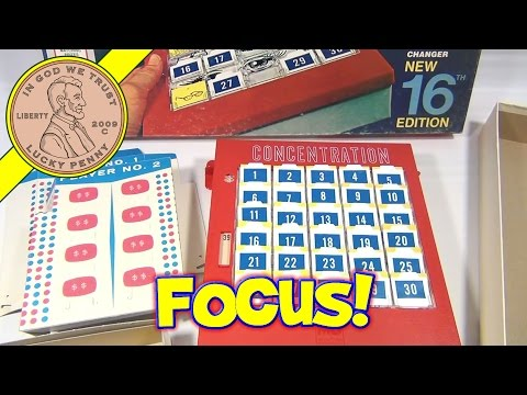 Concentration TV Show 16th Edition Board Game #4950, 1972 Milton Bradley