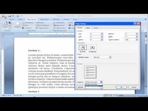 How to Change Margins in Microsoft Word 2007--Make everything fit on one page