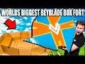 WORLDS BIGGEST BEYBLADE BOX FORT