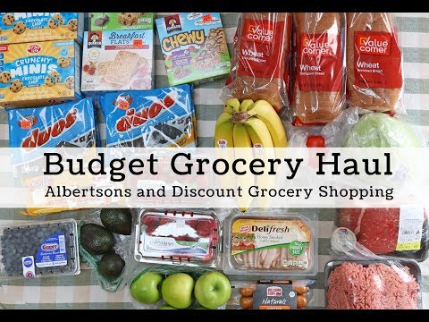 Budget Grocery Haul, Under $60
