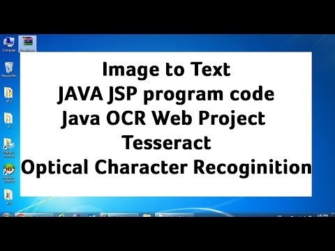 Java OCR Web Project -Tesseract Optical Character Recoginition(OCR)