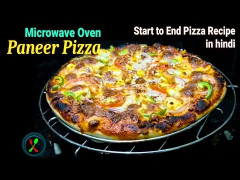 Pizza Recipe   Paneer Pizza in Microwave Convection Oven Recipe   Start to end Pizza Recipe