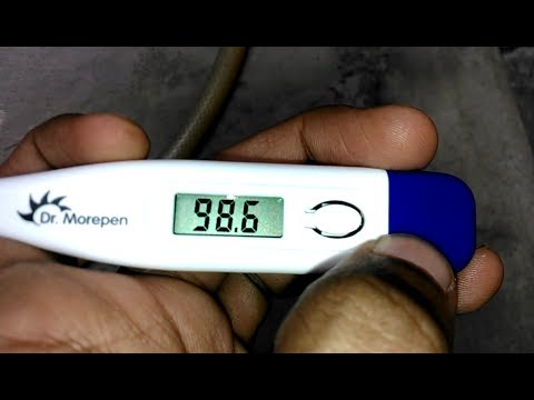 Digital Thermometer Celsius (C°) to Fahrenheit (F°) || unboxing || how to use
