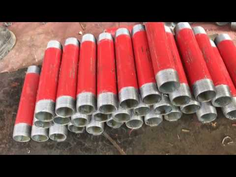 How to threading steel pipe machine for threading pipe
