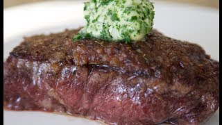 Steak With Caramelized Onions Herb Butter Byron Talbott