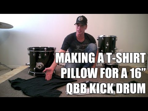 Making a T Shirt Pillow/Muffle for the Questlove Breakbeats Kick Drum