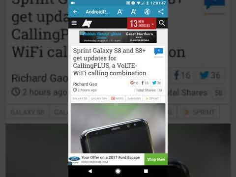 Sprint adds wifi calling and VOLTE to S8 and S8 Plus