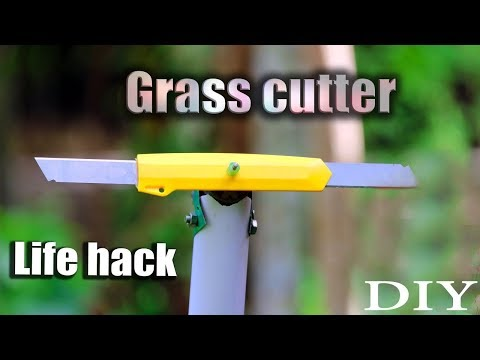 How to make a grass cutter at home with enty cutter