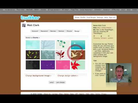 How To Upload Twitter Background ::: TweetPages