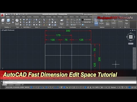 AutoCAD Fast Dimension Edit Space   Tips & Trick