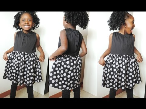 HOW TO MAKE A SIMPLE DRESS FOR KIDS. DIY