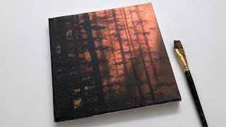 Download Glowing Forest Acrylic Painting For Beginners | Acrylic Painting Ideas Video