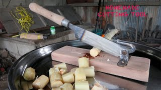 THIS IS A TRADITIONAL TOOL / HOW TO MAKE A SUGAR CANE CUTTER FROM SPRING STEEL