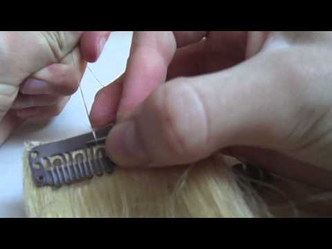 how to sew clips on hair extensions