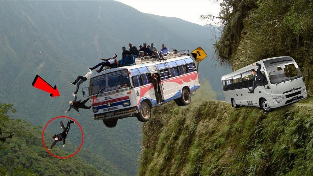 The Most Dangerous Roads In The World That Any Driver Dare Not To Drive, Bus& Truck Operator Skills