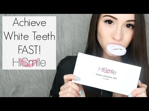 How I Achieved My Super White Teeth FAST: Teeth Whitening Routine Feat. HiSmile || BeautyChickee