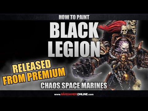 How to Paint Black Legion 40k Chaos Space Marines