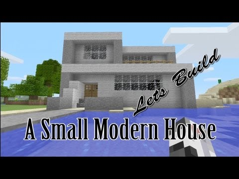 Lets Build a Small Modern House Minecraft Xbox 360 Edition HD Tutorial