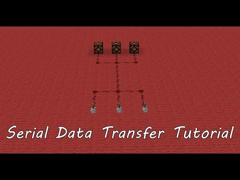 Minecraft Tutorial: Serial Data Transfer (Multiple signals through one wire)