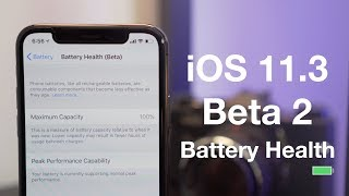 iOS 11.3 Beta 2: Battery Health Features!
