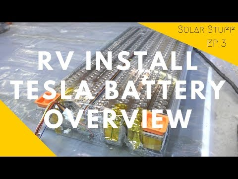 Overview of the Tesla Lithium Battery Module We are Installing in our RV - EV Battery Hack!