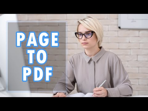 How to save a webpage as a PDF in Mozilla Firefox