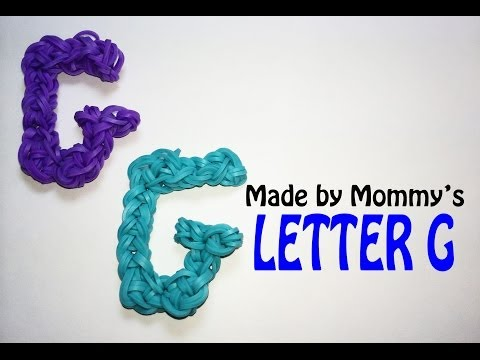 Letter G Charm Without the Rainbow Loom