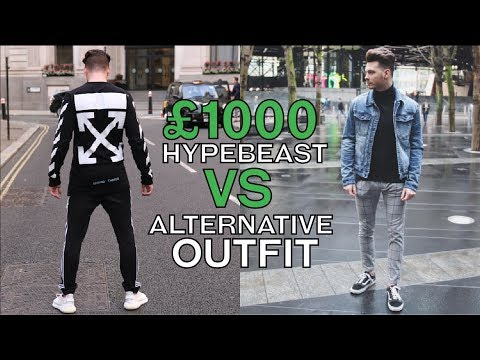 £1000 Hypebeast Outfit VS Streetwear Outfit - Mens Streetwear Fashion 2018