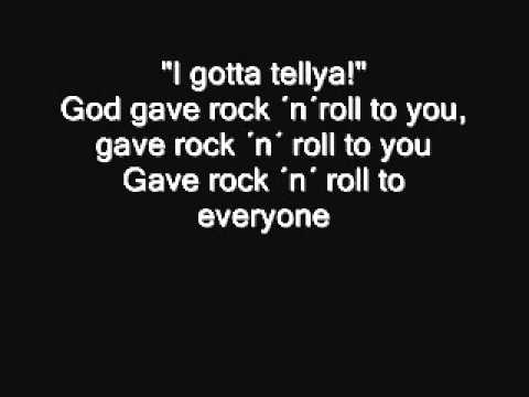 Kiss - God gave Rock ´n´ Roll to you II Lyrics