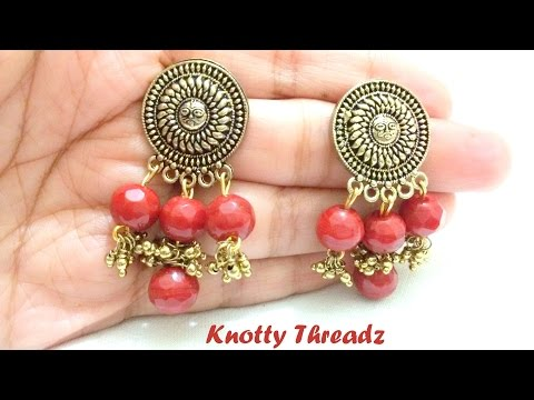 How to make Antique Jewelry - Earrings at Home | Tutorial !!