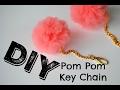 DIY: Pom Pom Key Chain with Tulle
