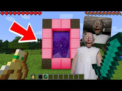 HOW TO MAKE A PORTAL TO THE GRANNY HORROR DIMENSION - MINECRAFT SCARY GRANNY
