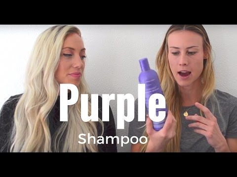 PURPLE SHAMPOO- get brassy yellow tones out of your hair!