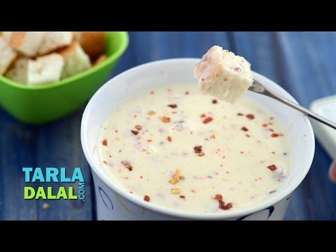 Quick Cheese Fondue by Tarla Dalal