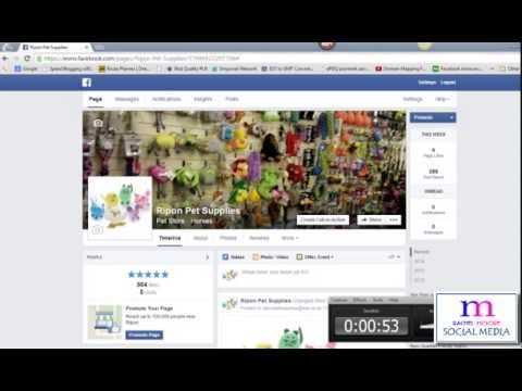 How to add the search bar to your Facebook business page