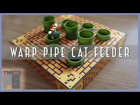 DIY Super Mario Warp Pipe Cat Feeder