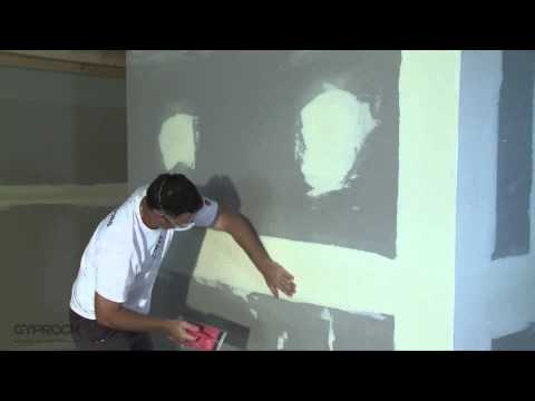 Installing Gyprock plasterboard - How to sand and finish plasterboard joints
