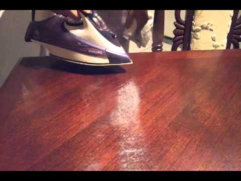 How to remove white heat stain from table