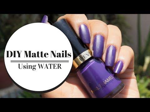 DIY matte nails | using *water*