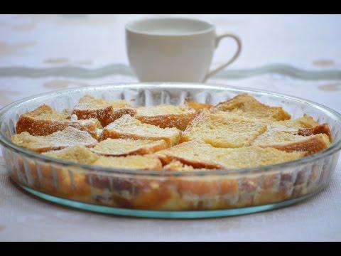 Eggless Bread Pudding Dessert