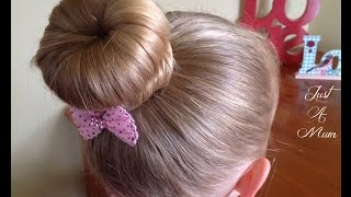 How To: Quick Donut Bun Hairstyle