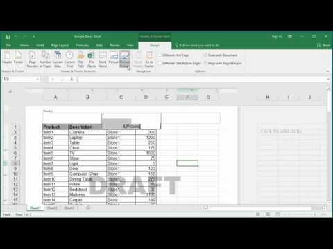 How to Add Watermark to a Worksheet in Excel 2016