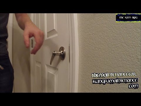 Door Lock Handle Sagging Has Lost It's Spring Back Qualities Not Bouncing Back Repair Video