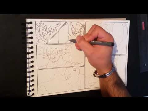 Drawing a Manga ► Dragon Ball Z - Aglot Saga ► Page #1