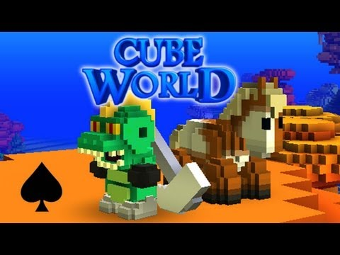 Cube World Alpha Adventure w/ Spade - Part 2: Look At My Horse!
