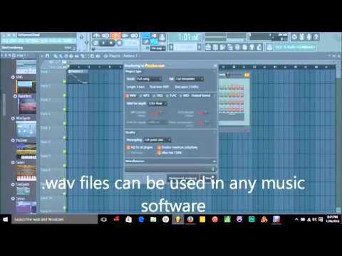 FLStudio- How to convert VST's to .wav- The Virtual Music Generation
