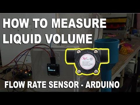 How to measure Liquid Volume - Flow rate Sensor - Arduino